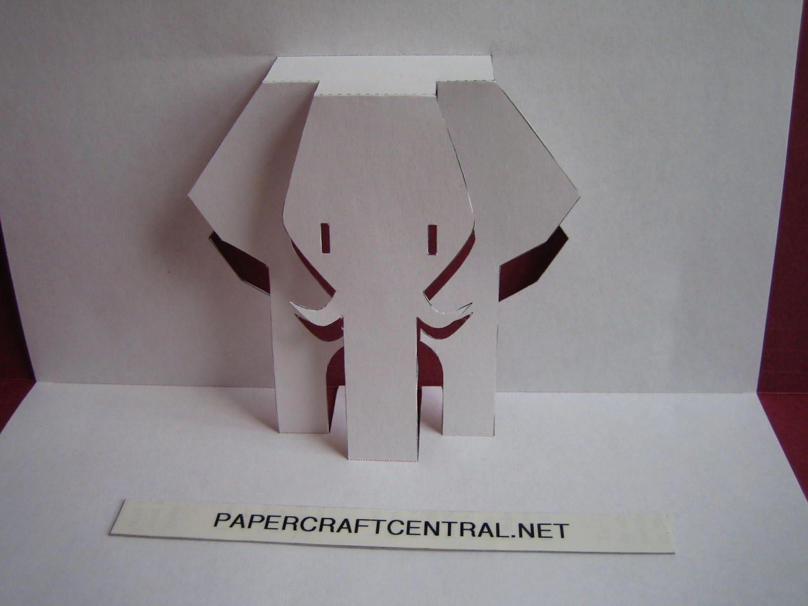Papercraft Elephant Kirigami Paper Cut Art Decoupage African Elephant