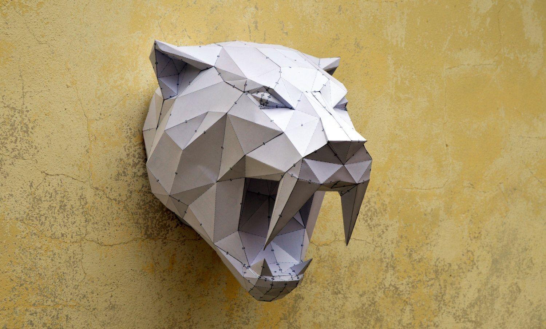 Papercraft Elephant Make Your Own Sabertooh Tiger Papercraft Animal