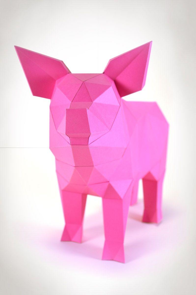 Papercraft Elephant Pin by Liebesreh On Papierskulpturen Liebesreh