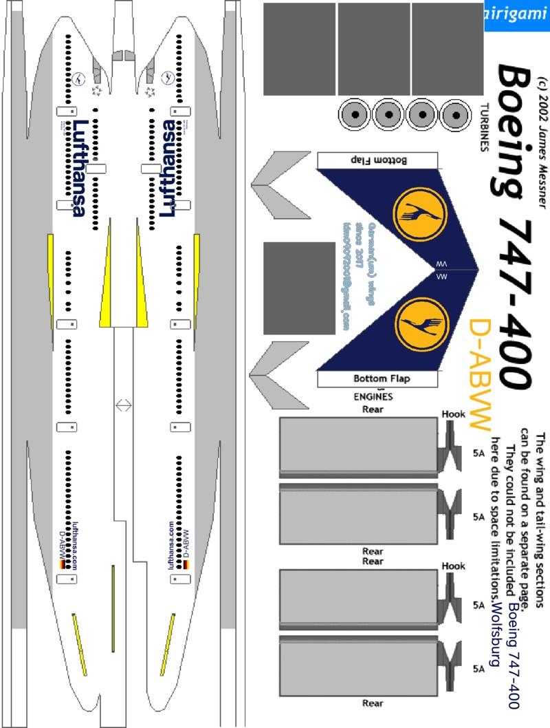 Papercraft Engine Lufthansa Oid 747 430 네이버 블로그