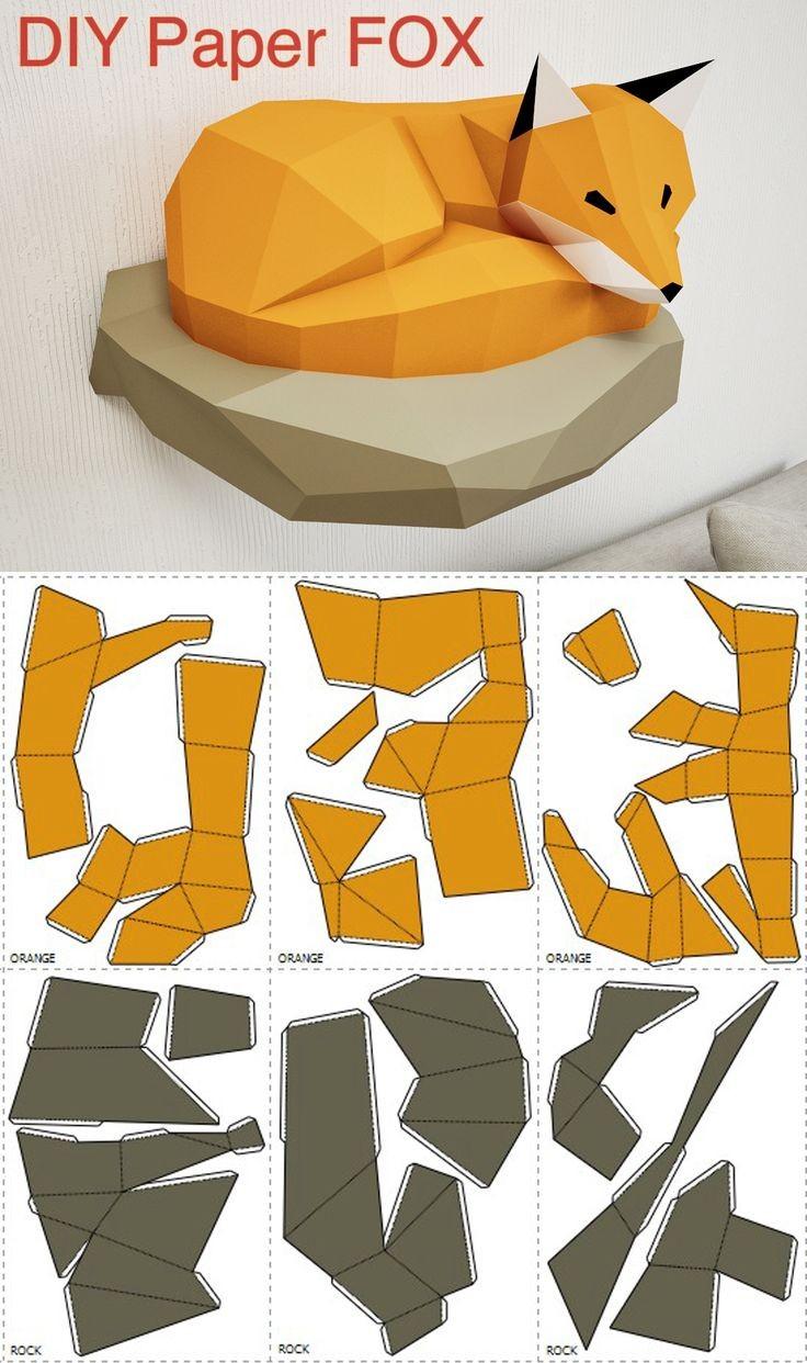 Papercraft Fox 890 Best Papercraft Images On Pinterest