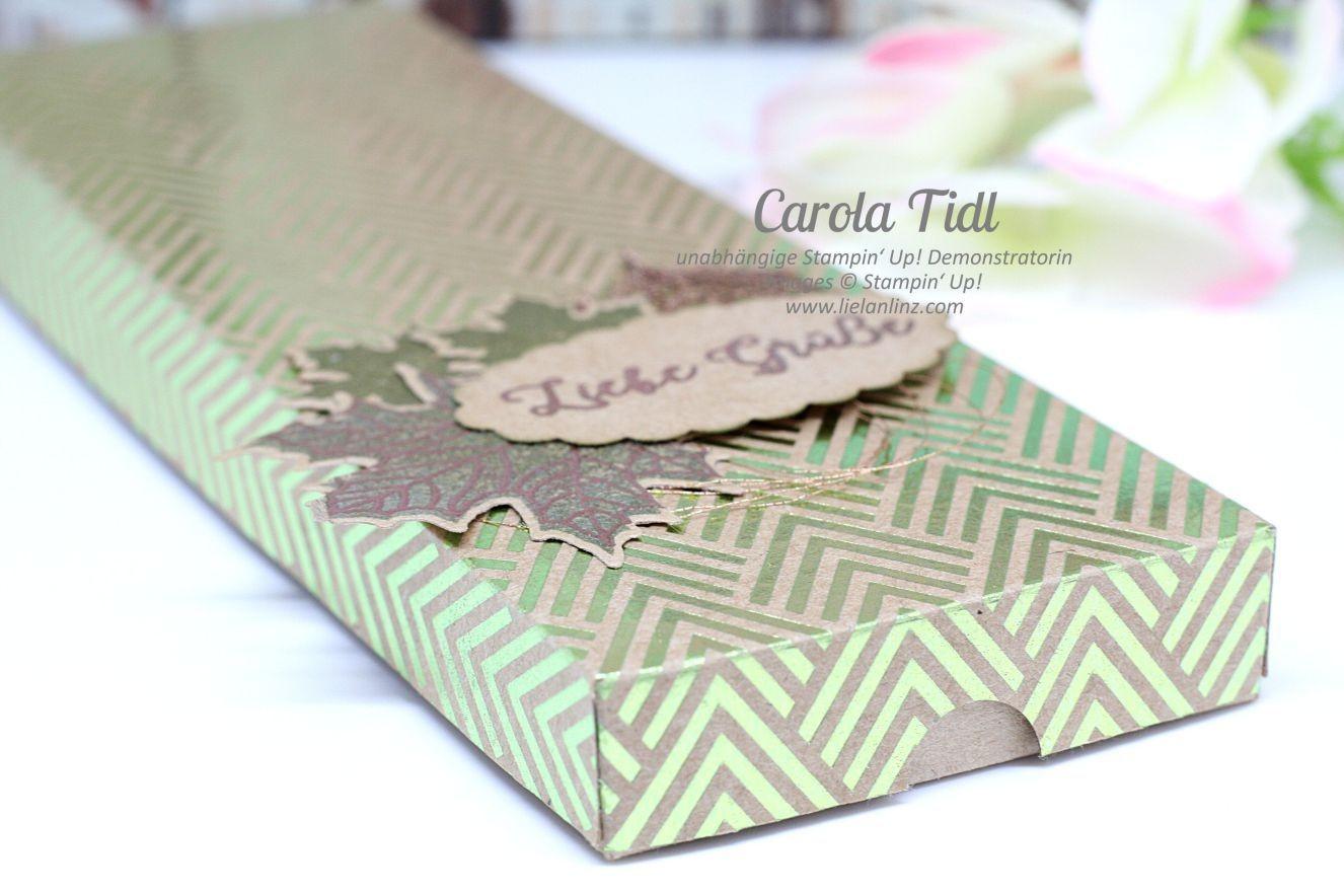 Papercraft Gift Box Auch Ich Hab Mittlerweile Das Designerpapier Metallic Glanz Entdeckt