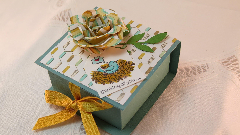 Papercraft Gift Box Flip top Box Boxes Pinterest