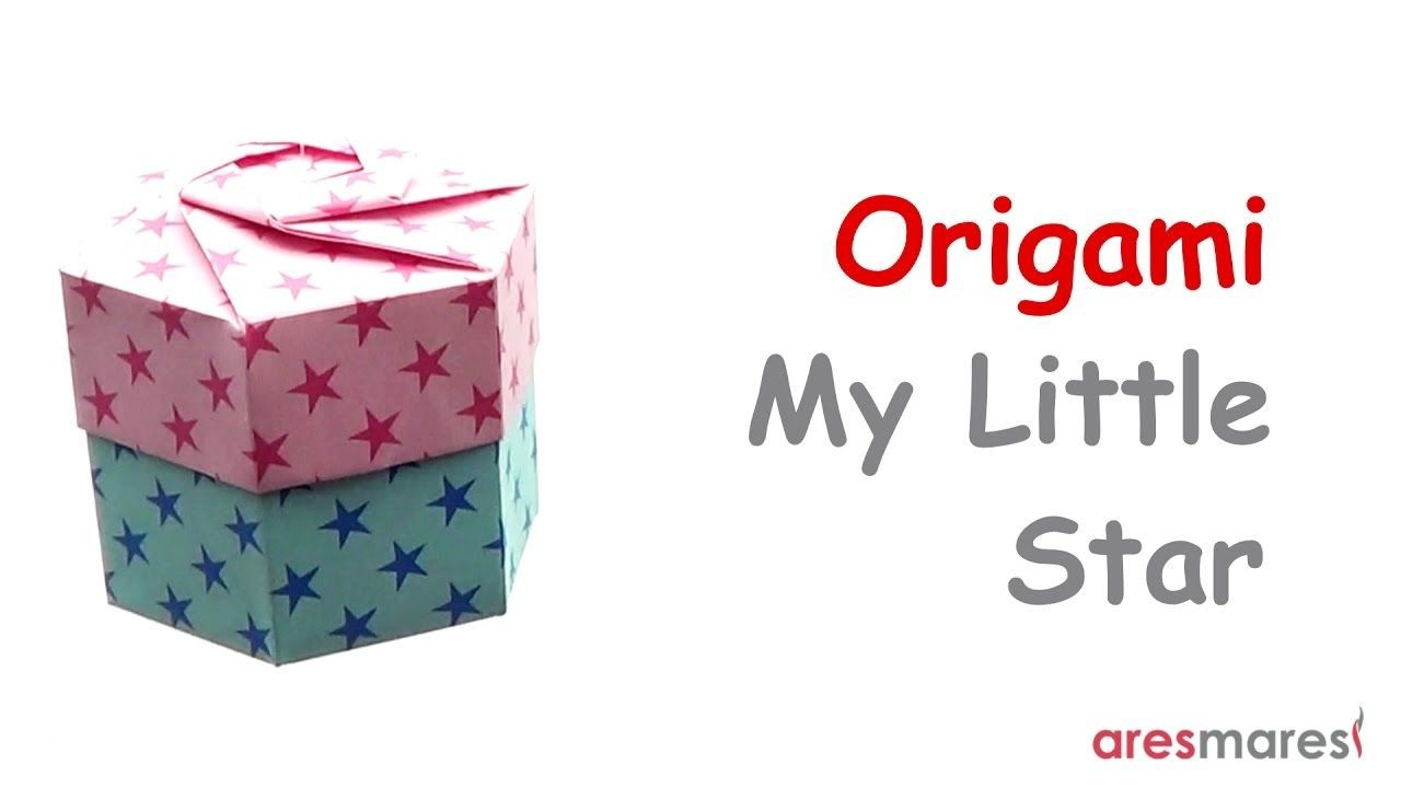 Papercraft Gift Box origami Hexagonal Gift Box Intermediate Non Modular Difficult