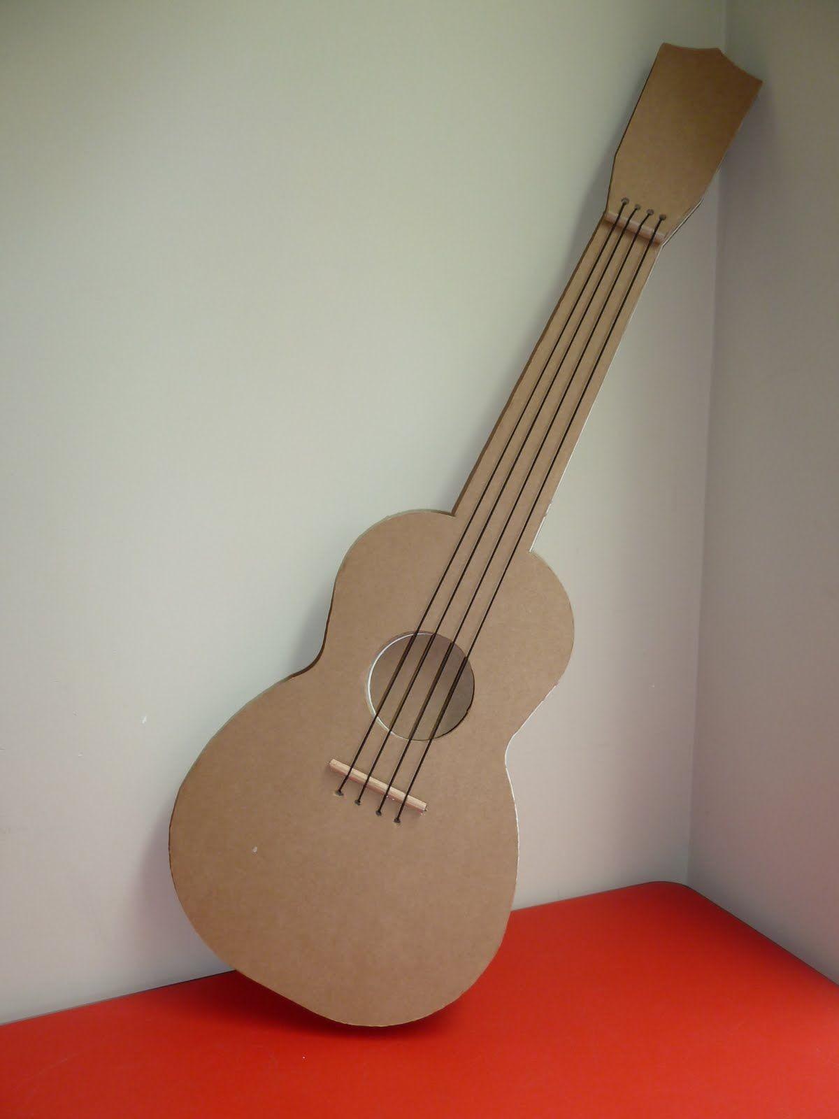 Papercraft Guitar Cardboard Guitar Kartonnen Gitaar Muziek Pinterest