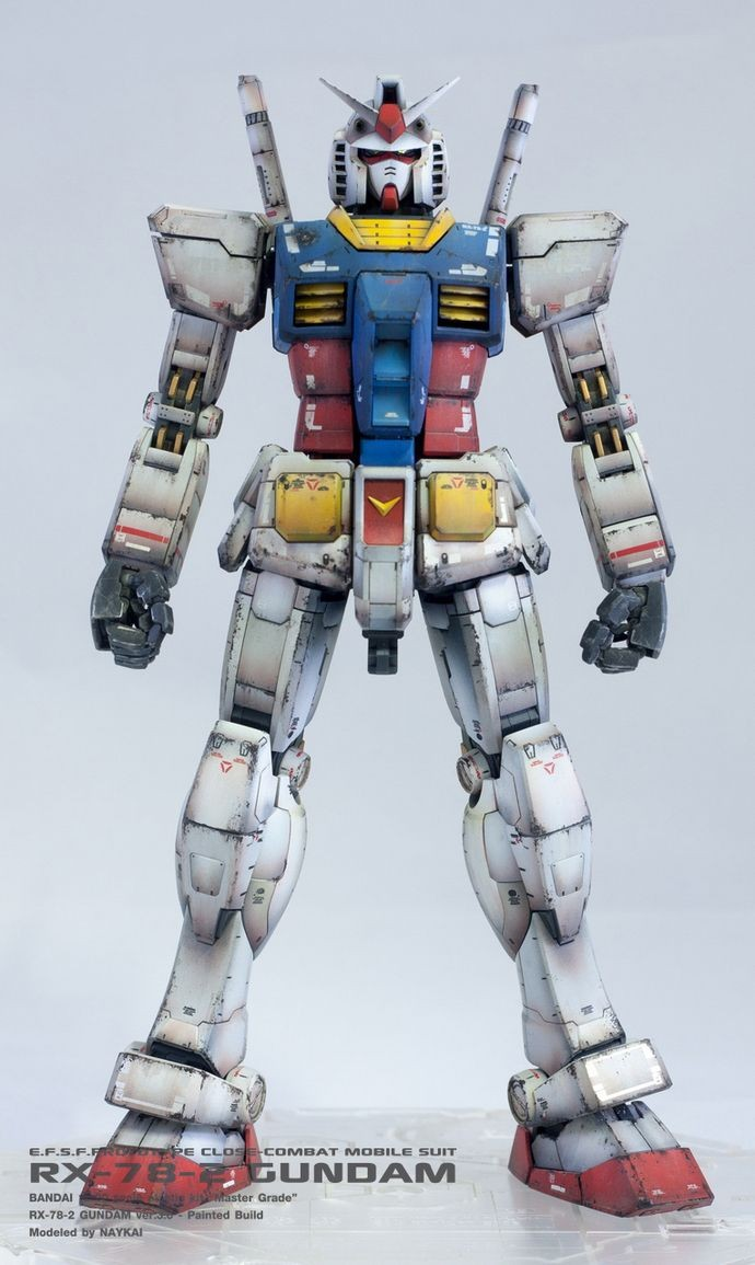 Papercraft Gundam Mg Rx 78 2 Gundam Ver 3 0 Gundam Models Pinterest