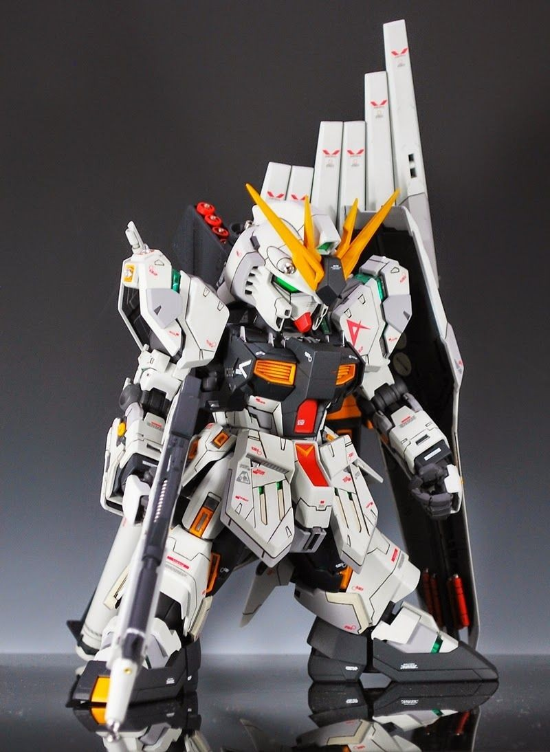 Papercraft Gundam Sd Mg 1 100 Nu Gundam Ver Ka Custom Build