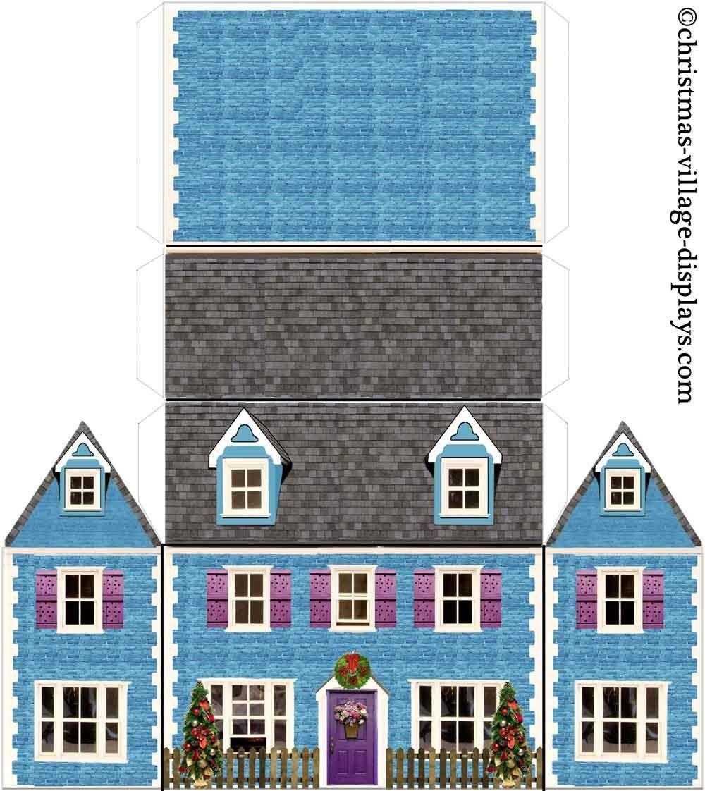 Papercraft Houses Bluebell Cottage 1 000—1 122 Pixels Model Making