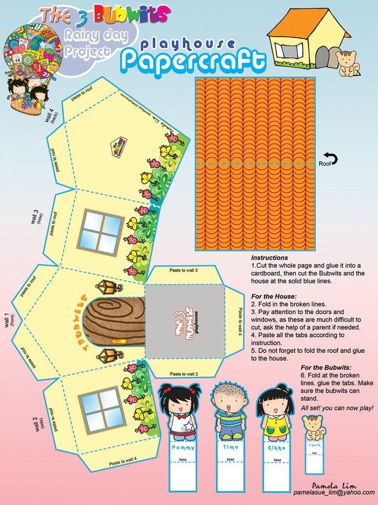 Papercraft Houses Free Printable Papercraft House by Pammylim On Deviantart