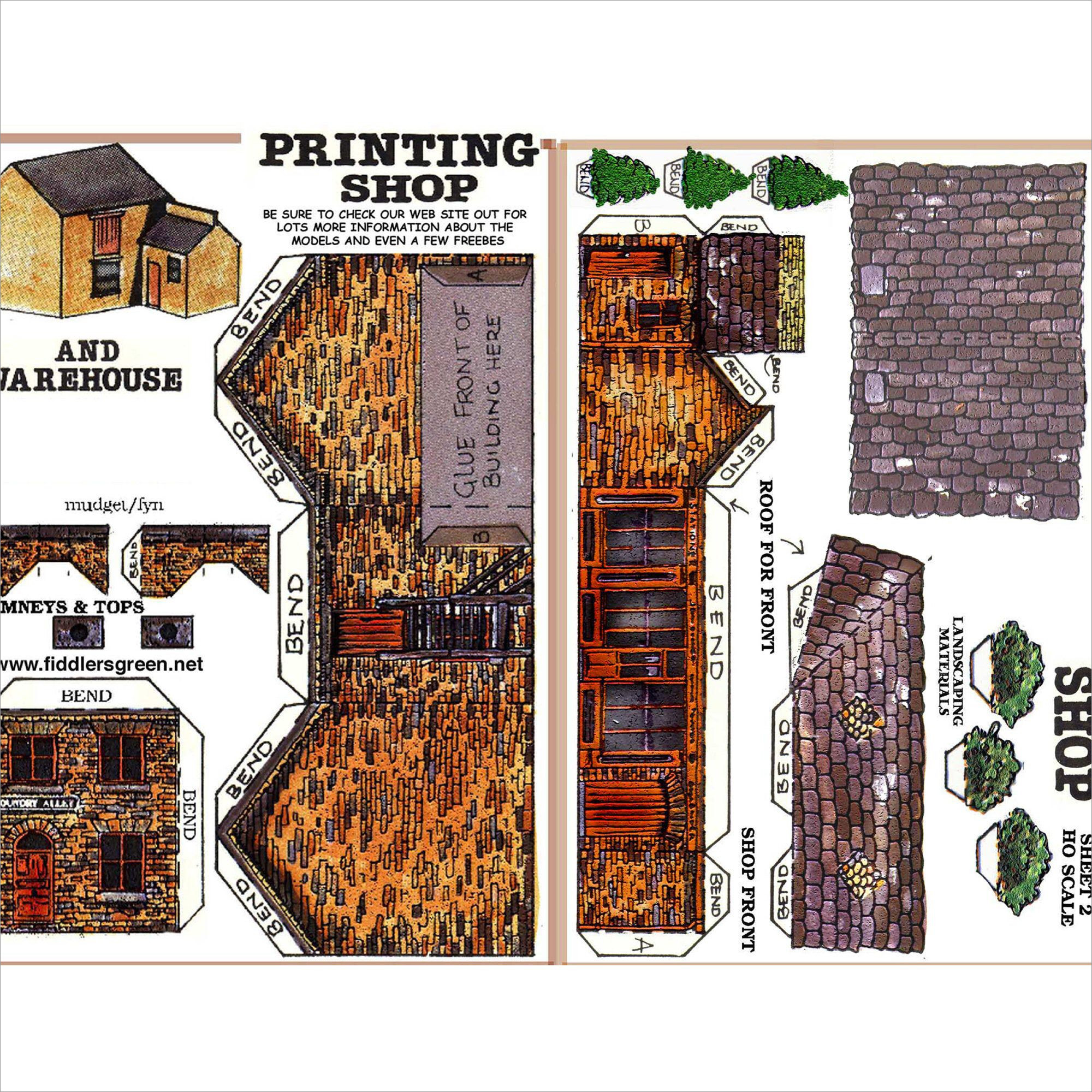 Papercraft Houses Paper Model Papercraft House 3d