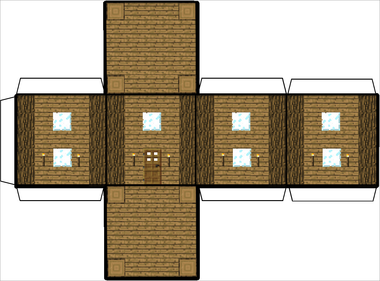 Papercraft Houses Papercraft Minecraft House Download