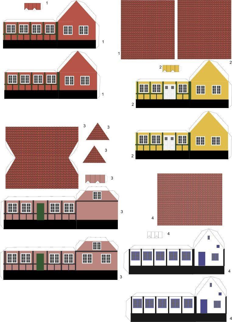 Papercraft Houses Papirklip Og ¦sker Papirhuse Pinterest