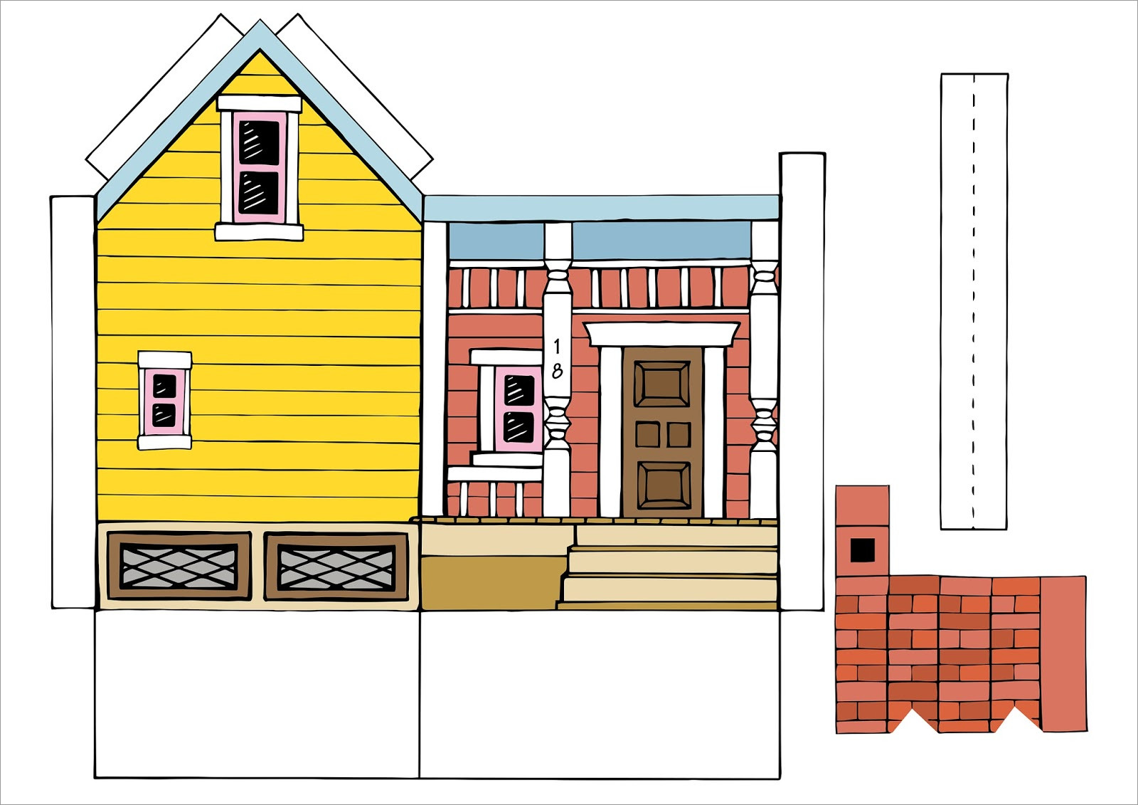 Papercraft Houses Up House Printable Papercraft Template