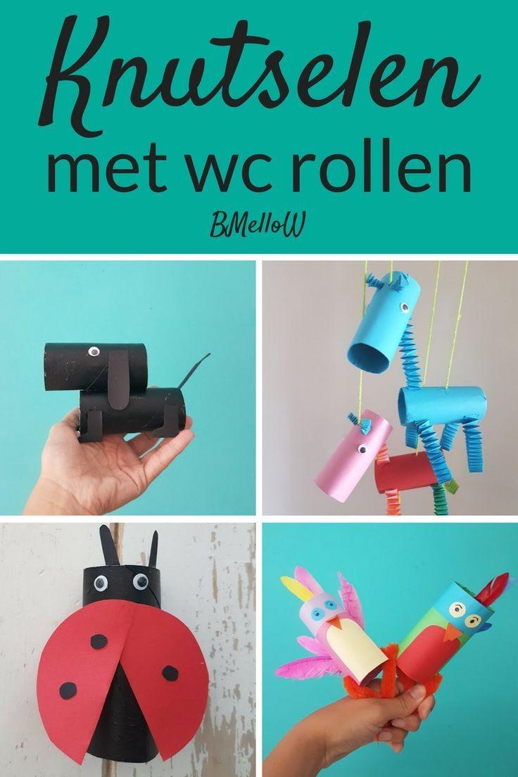 Papercraft Ideas for Children Knutselen Met Wc Rollen Simpel Te Maken Met En Voor Kinderen