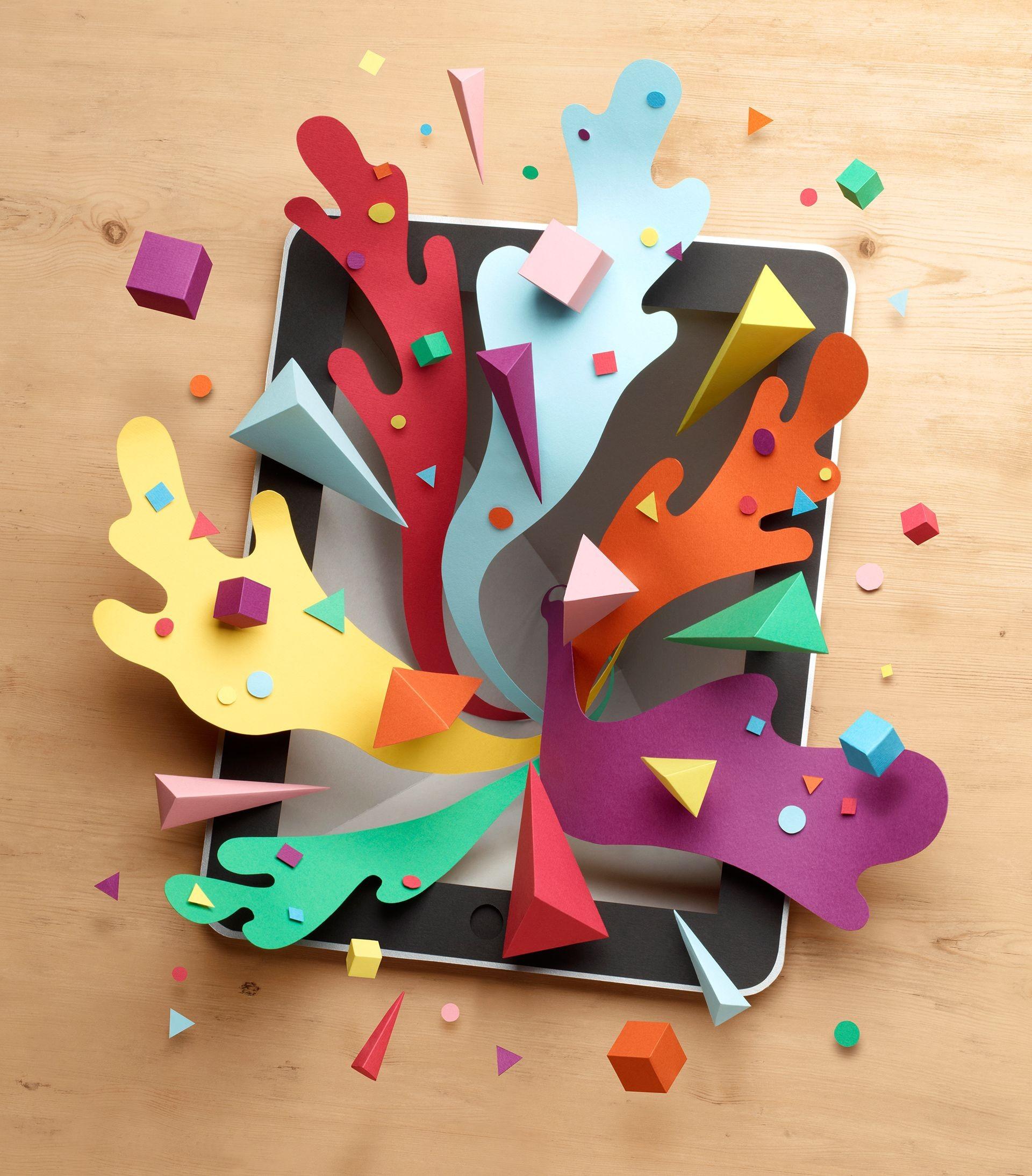 Papercraft Ipad Ipad Explosion by Owen Gildersleeve