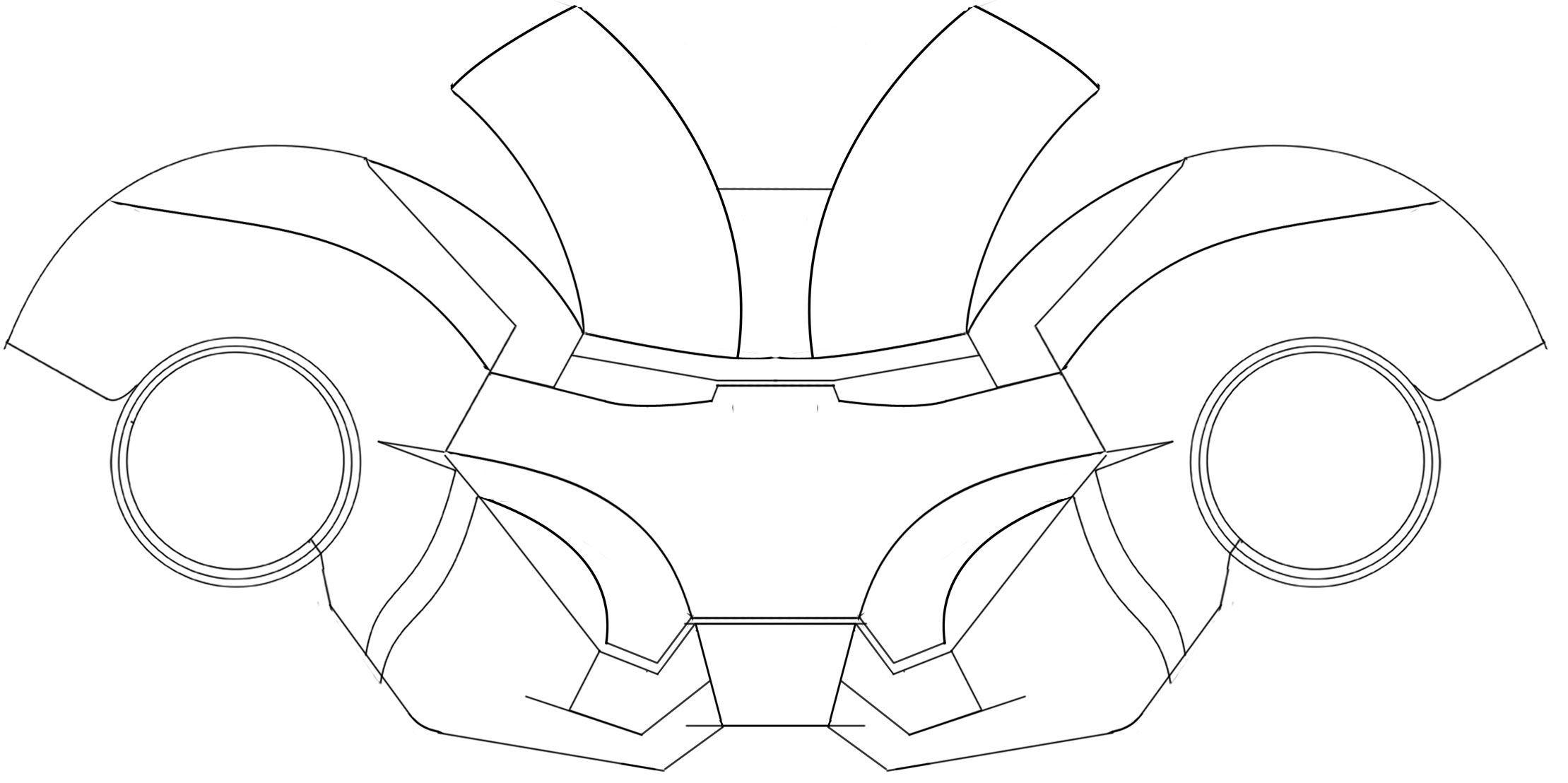 Papercraft Ironman Helmet Ironman Helmet Template Armor Pinterest