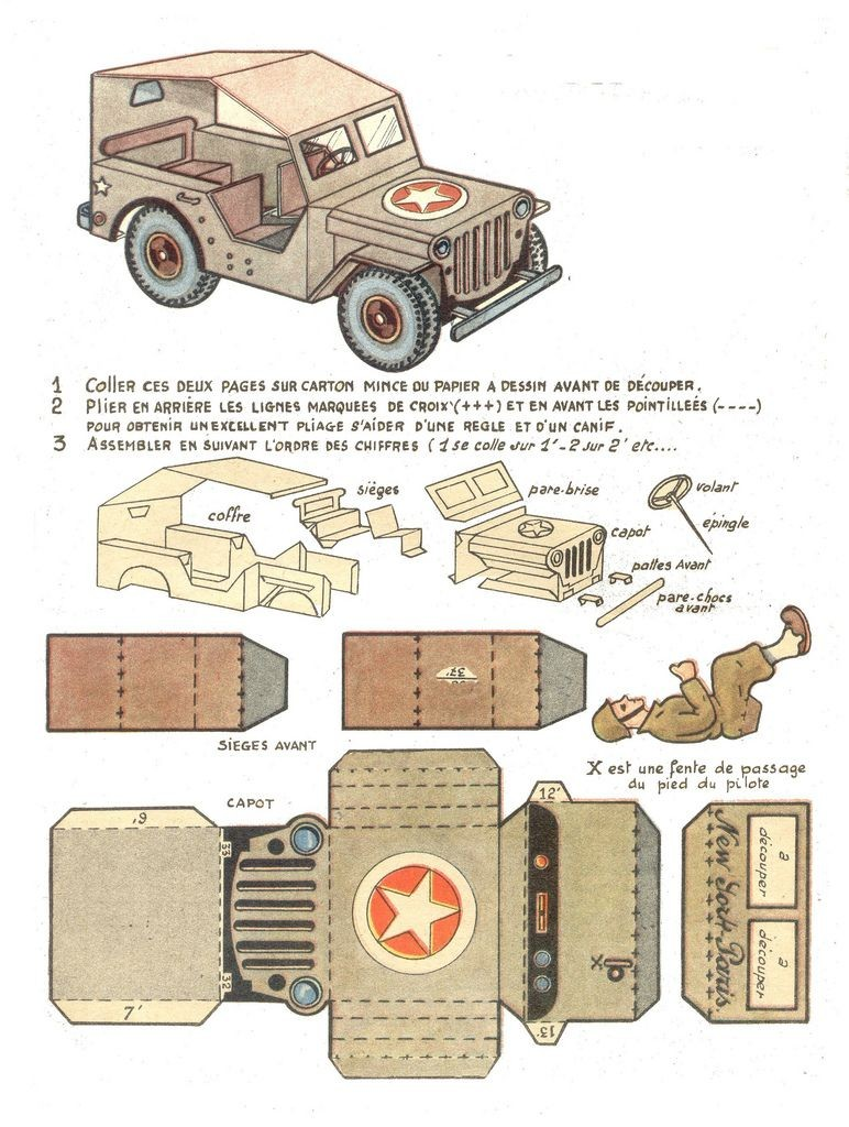 Papercraft Jeep Copie De Une Jeep Pinterest