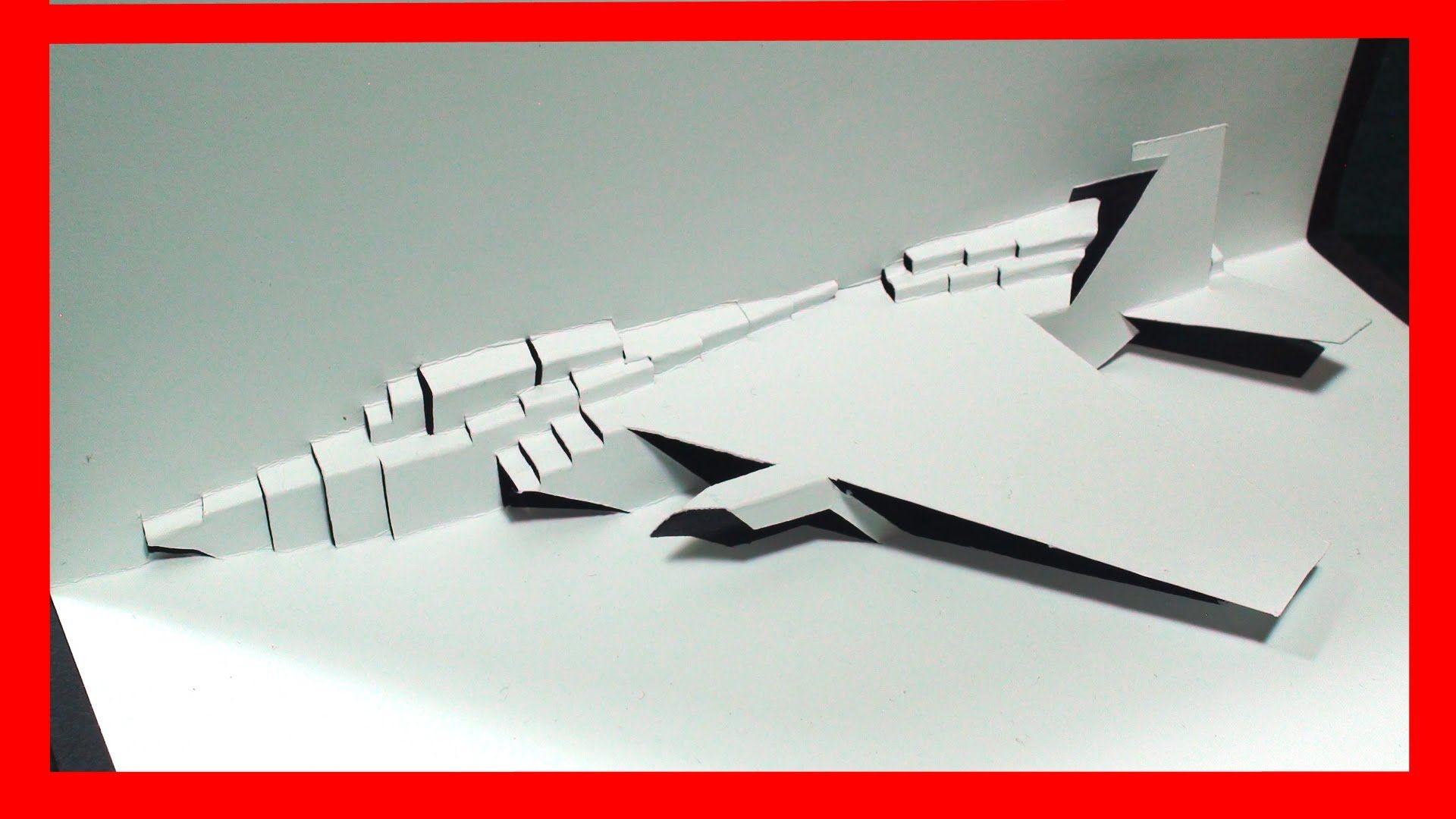Papercraft Jet F 15 Fighter Jet Pop Up Card Free Template Kirigami Hd