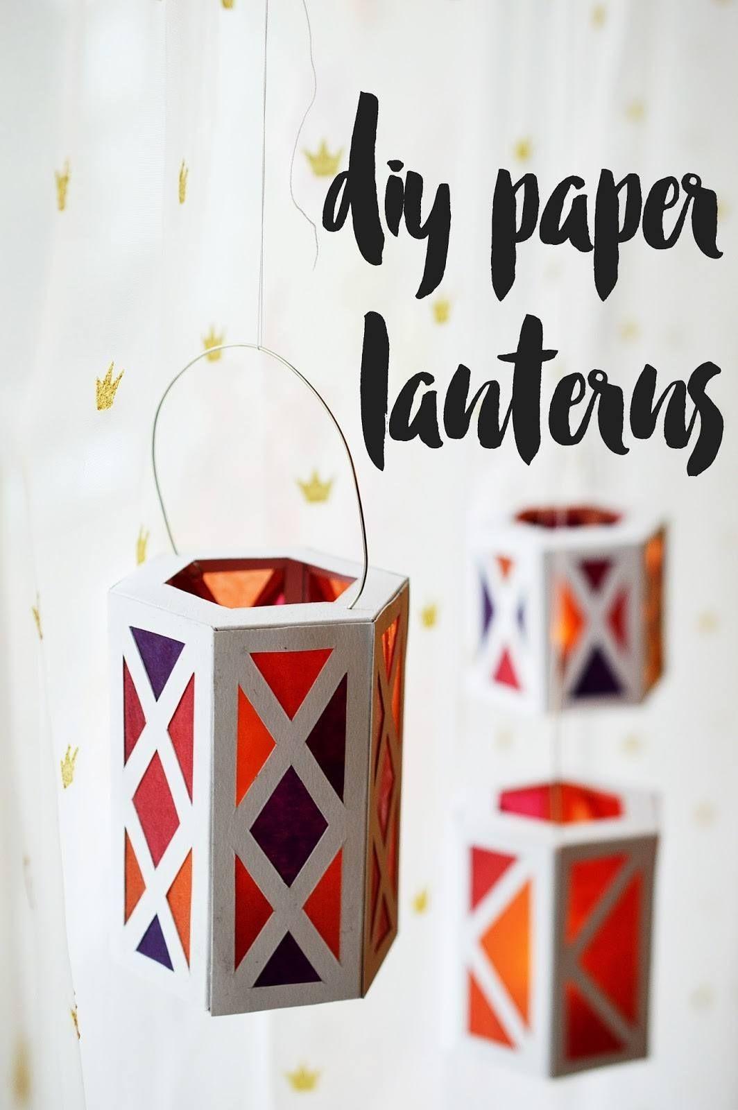 Papercraft Lantern Diy Paper Lanterns Homedecor … Paper Craft Pinterest
