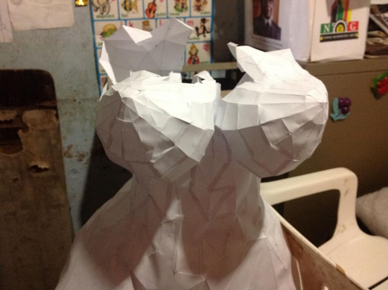 Papercraft Link Facettierter Papercraft Curvaceous Edition Bonus Gunook