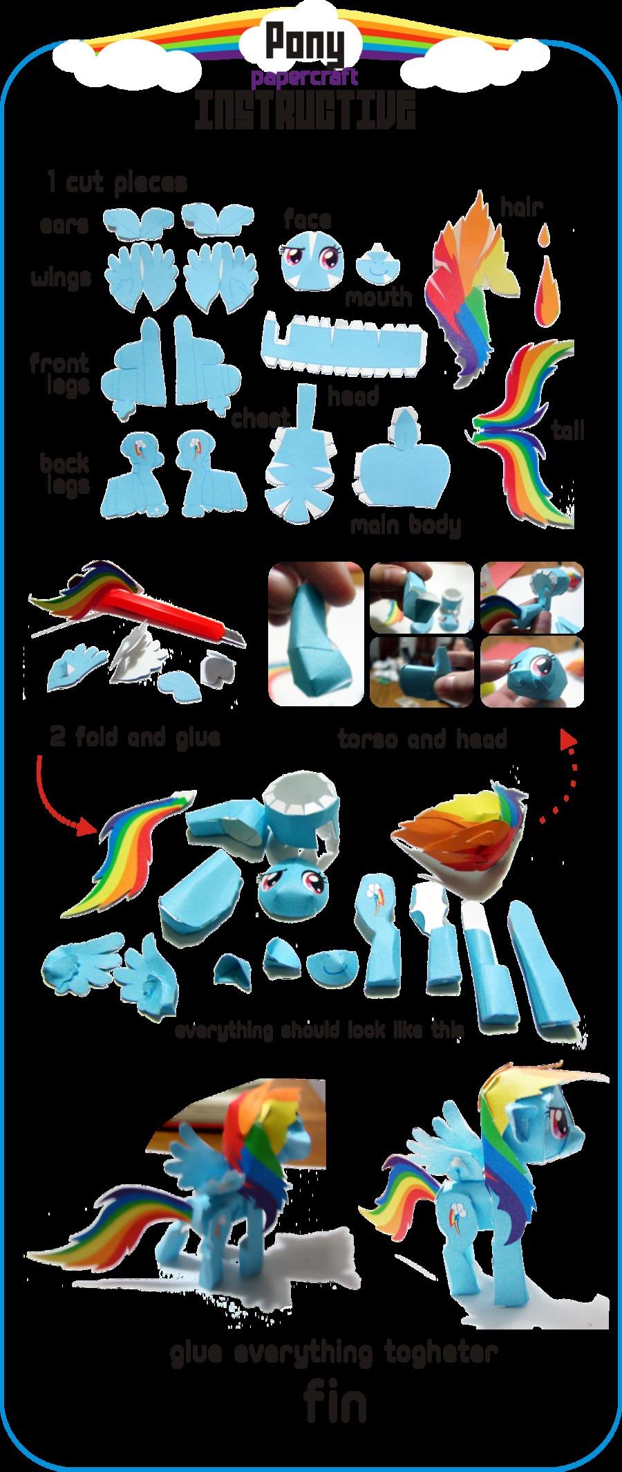Papercraft Link Papercraft De Mlp Paper Crafts Pinterest