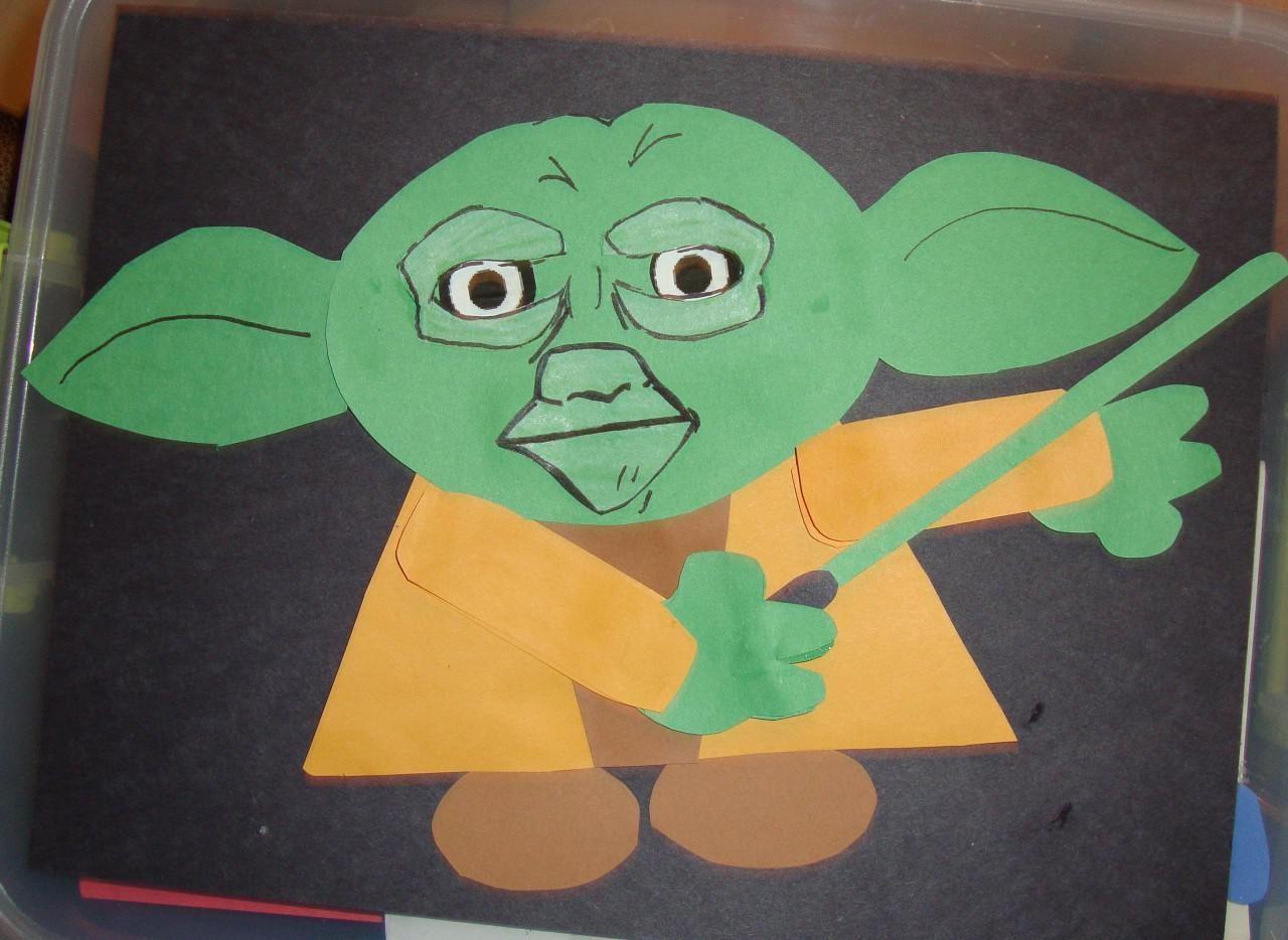 Papercraft Man Yoda Papercraft Einfach 2 D Gunook