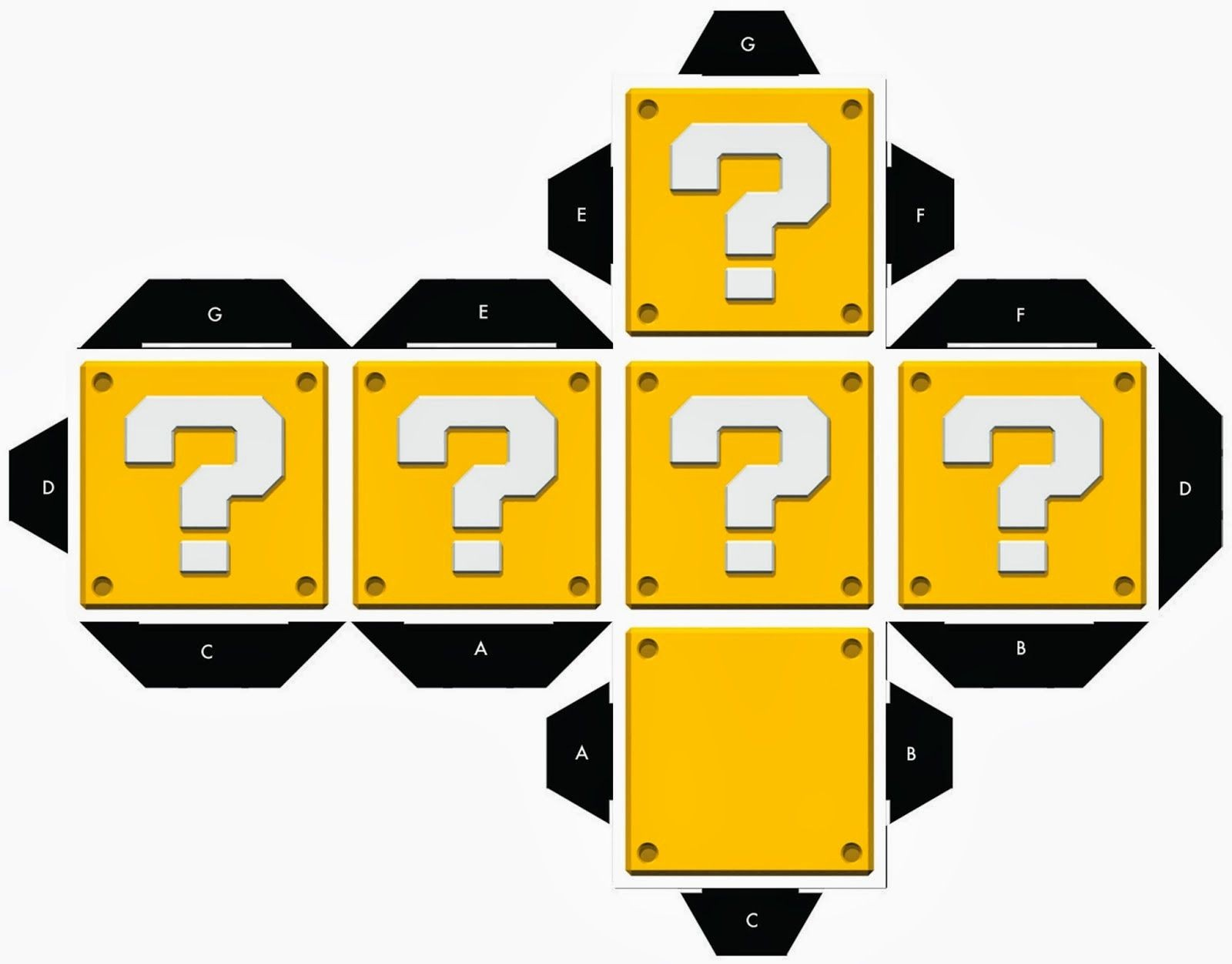 Papercraft Mario Cajas De Super Mario Bros Para Imprimir Gratis