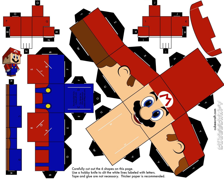 Papercraft Mario Kart Brinquedos De Papel Em 3d Para Imprimir E Montar Personagens