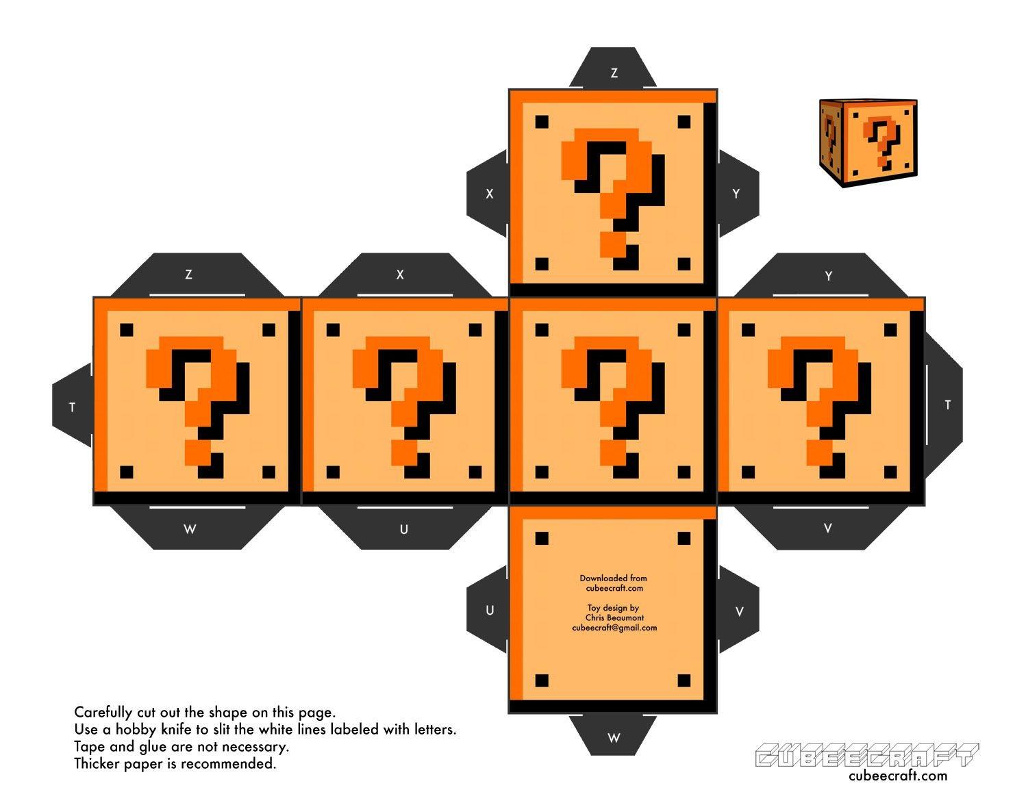 Papercraft Mario Kart Cuber Craft Mu±eco De Papel solo De Mario Bros