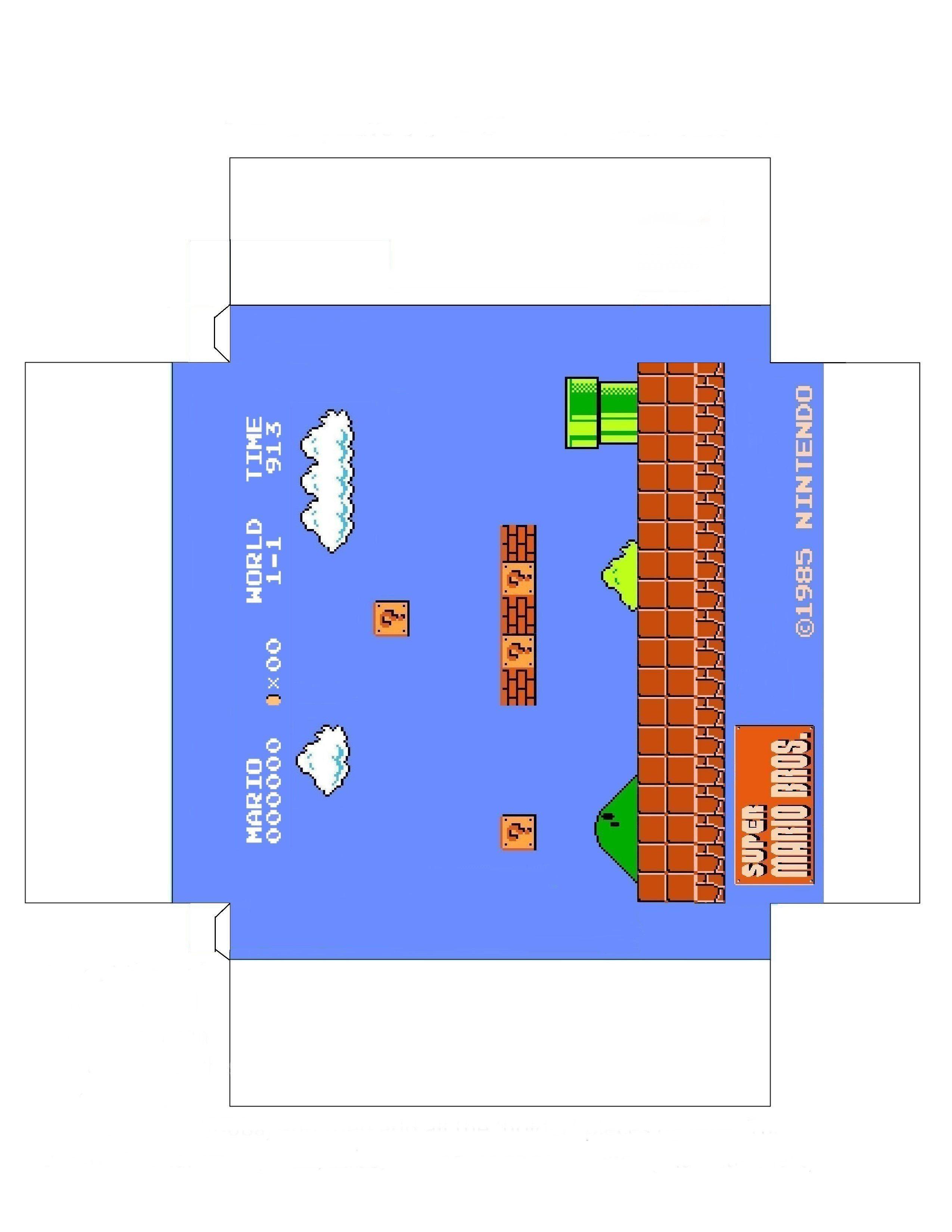 Papercraft Mario Super Mario Bros Diorama Papercraft Geek&freak&friki