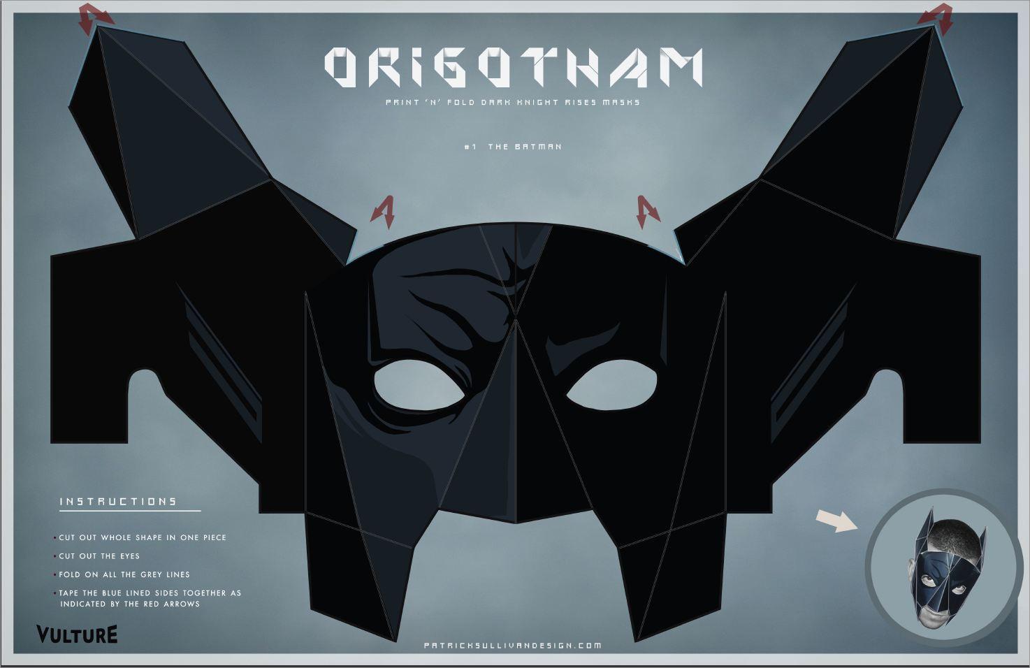 Papercraft Masks Batman Mask Papercraft Template