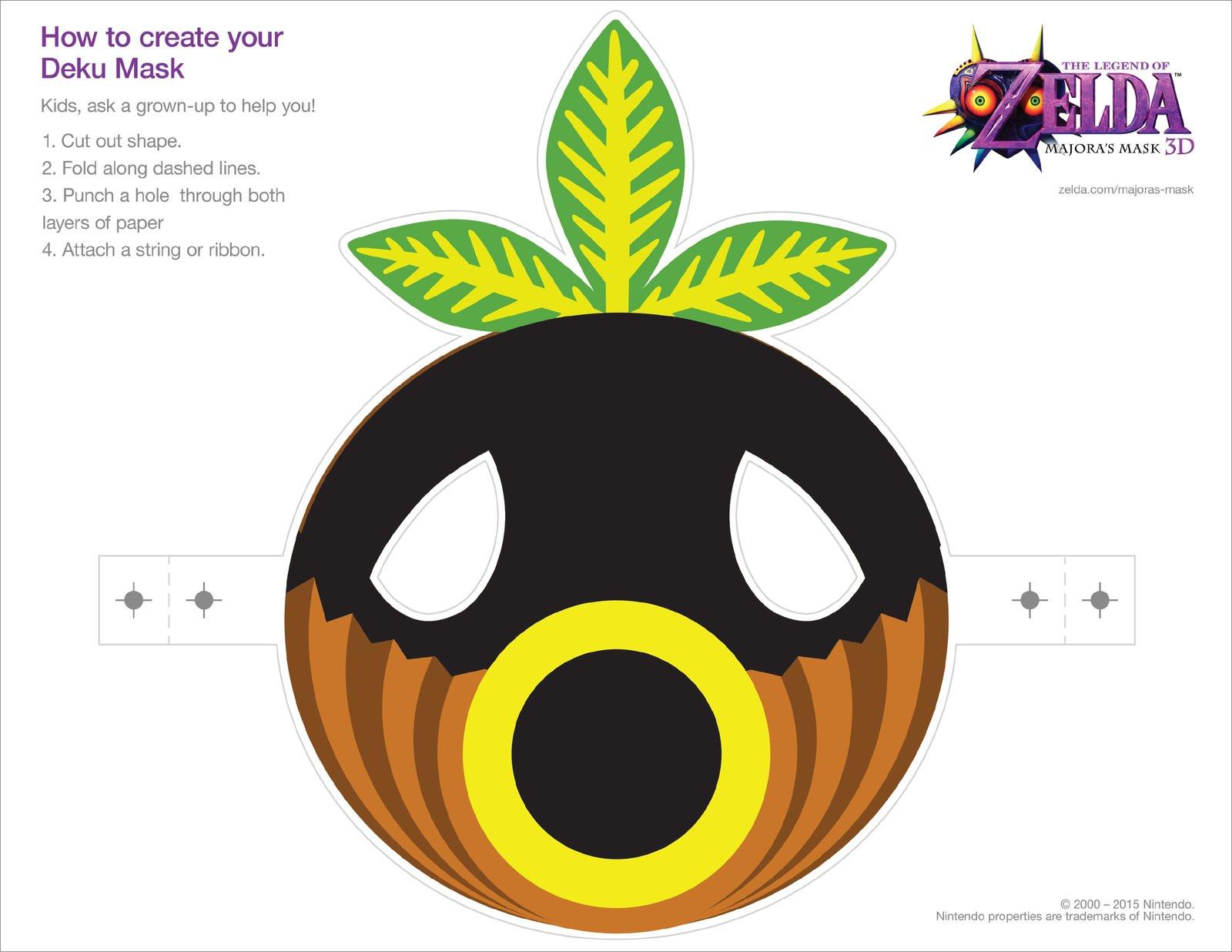 Papercraft Masks Deku the Legend Of Zelda Majora's Papercraft Mask