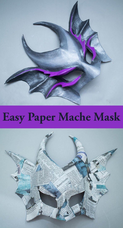 Papercraft Masks Easy Paper Mache Mask In 2018 Halloween Masks Pinterest