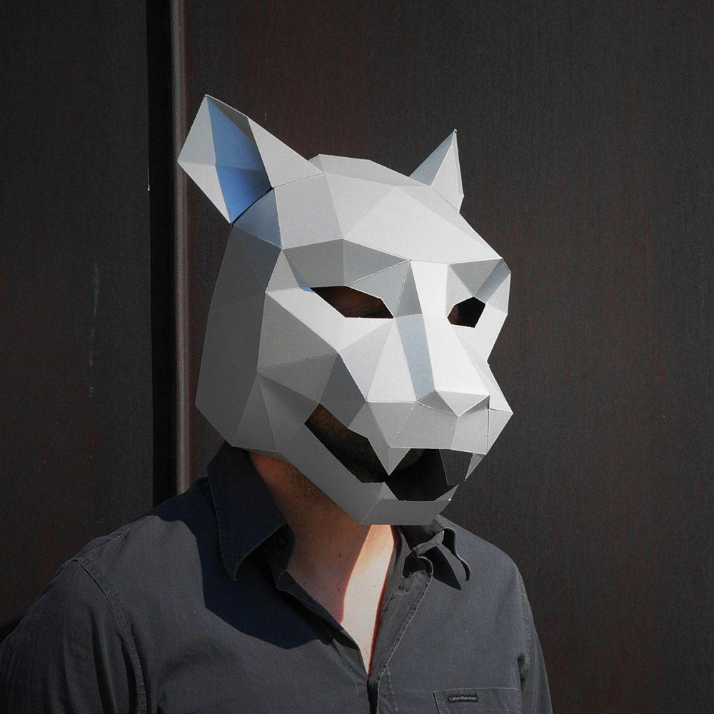 Papercraft Masks Jaguar Mask Noggs Pinterest