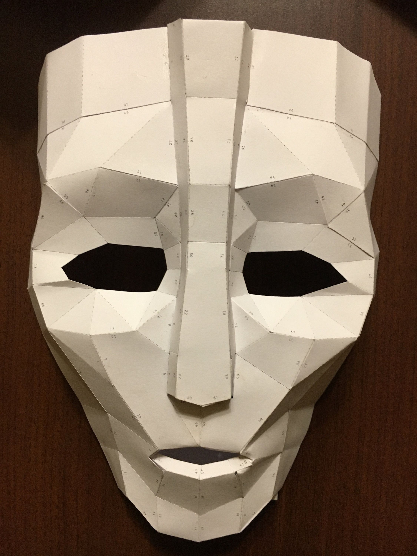 Papercraft Masks Loki Mask Diy Papercraft Model Бумажные издеРия