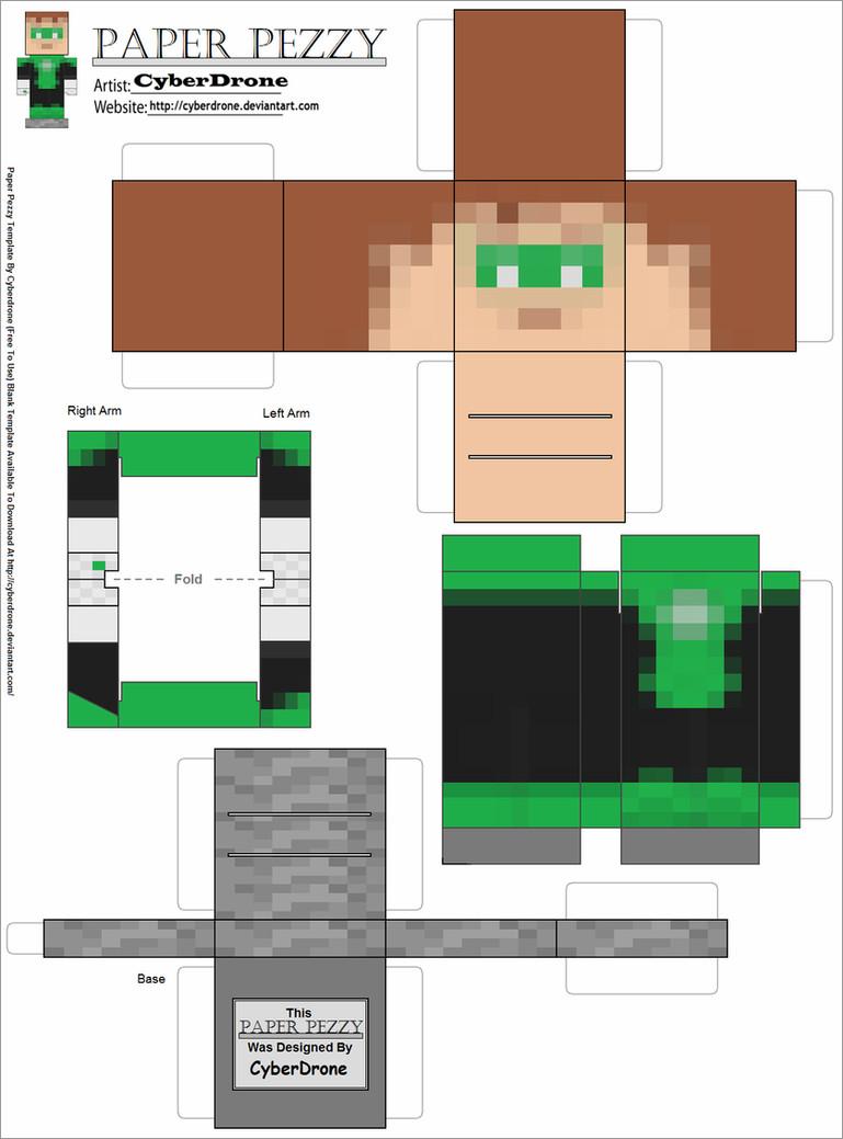 Papercraft Minecraft Skins Green Lantern Minecraft Papercraft