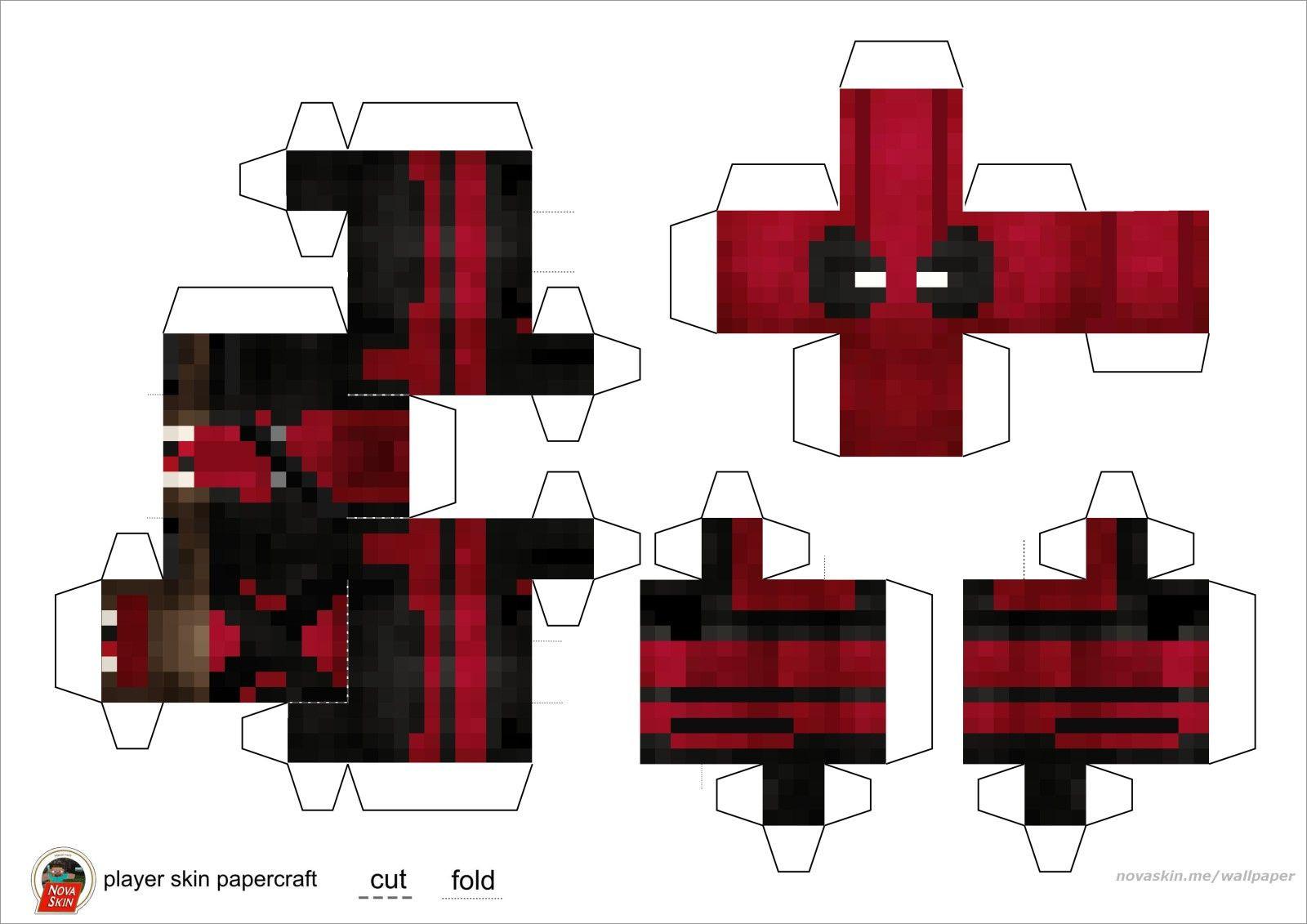 Papercraft Minecraft Skins Minecraft Papercraft Bendable Skins