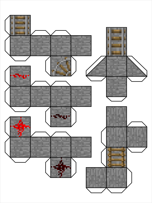 Papercraft Minecraft Skins Minecraft Papercraft Blocks