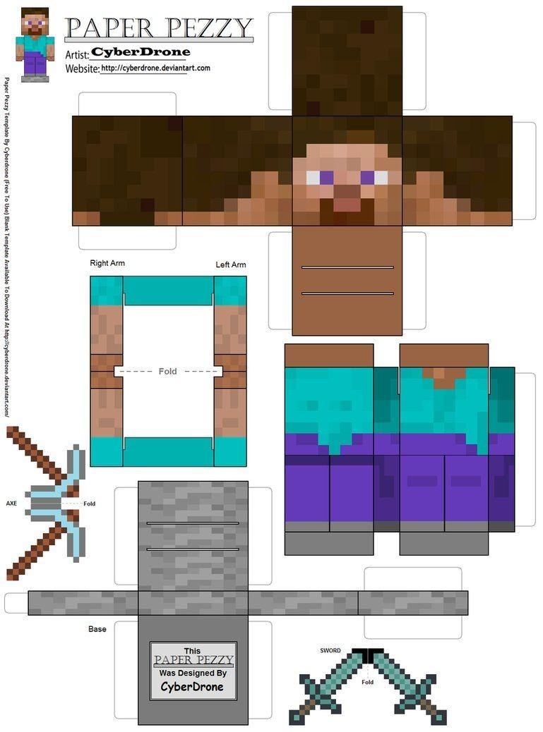 Papercraft Minecraft Skins Minecraft Printouts