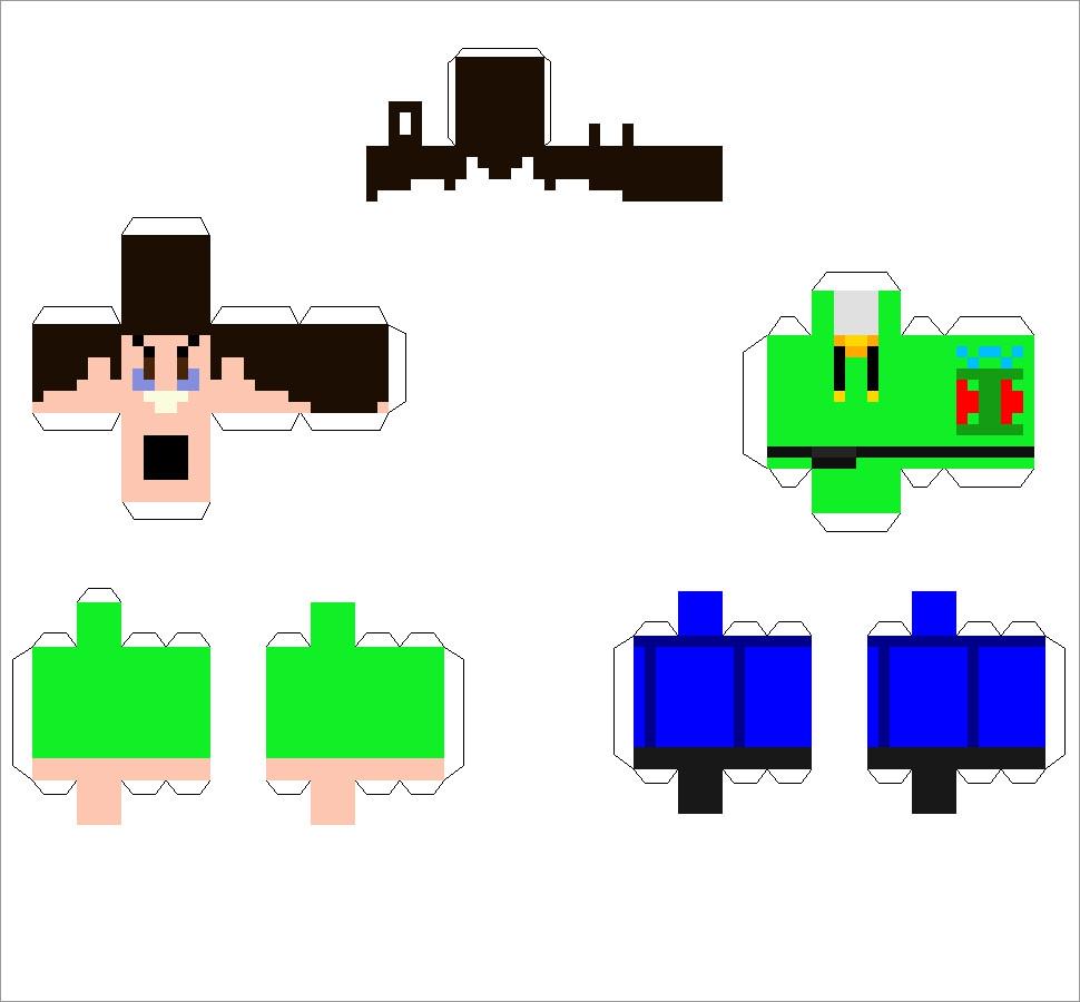 Papercraft Minecraft Skins Minecraft Skin Foldable Papercraft