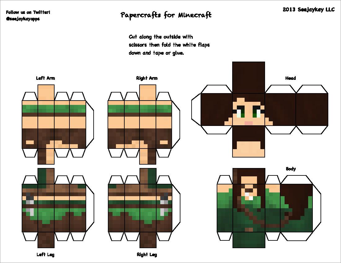 Papercraft Minecraft Skins Papercraft for Minecraft