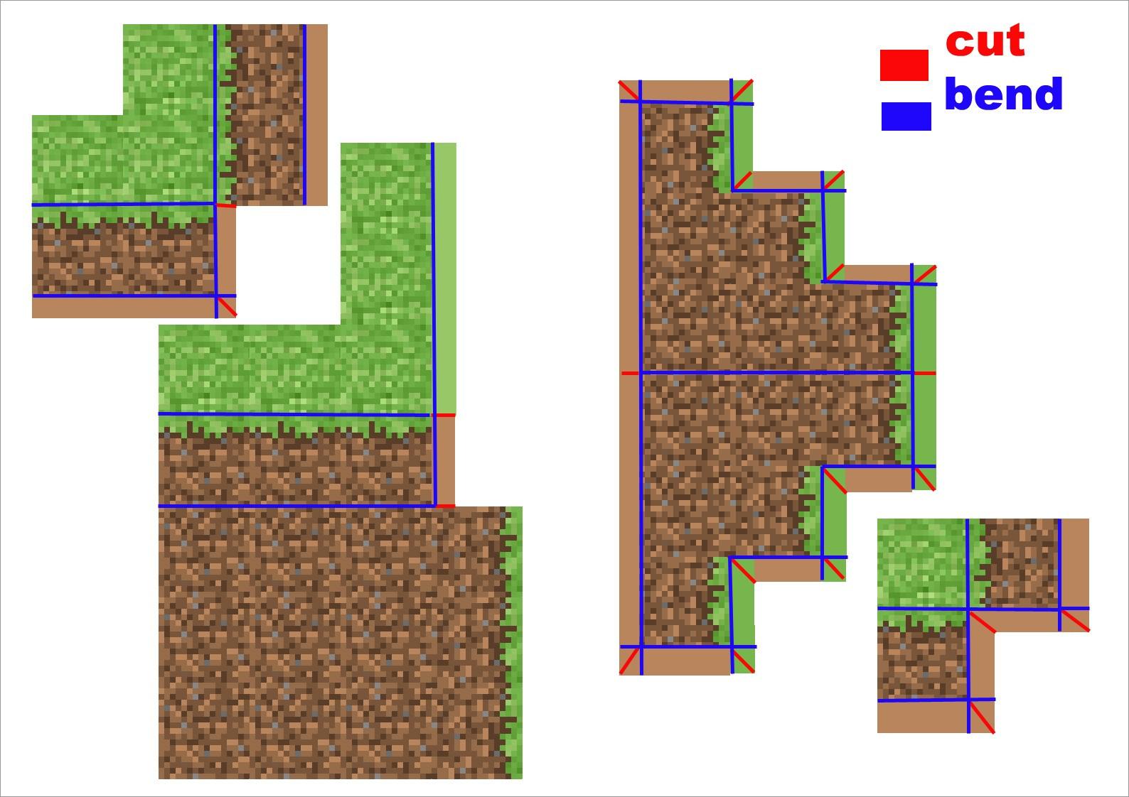 Papercraft Minecraft Skins Papercraft Minecraft Skins Grass Hill