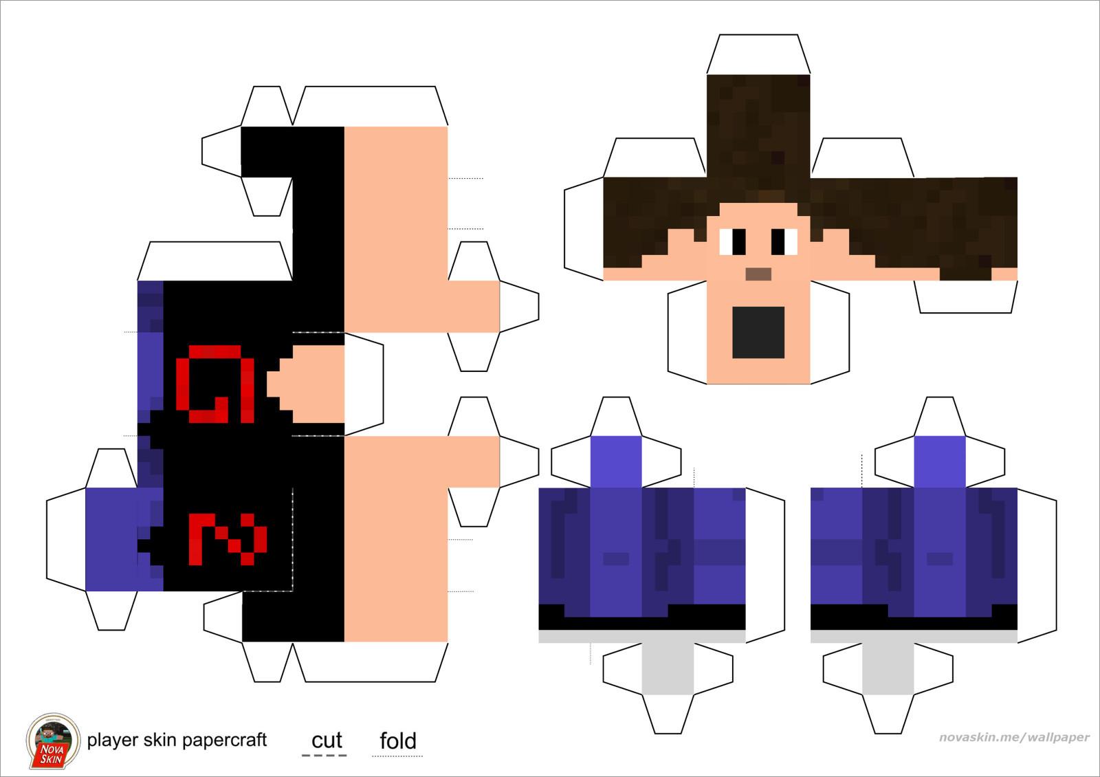 Papercraft Minecraft Skins Papercraft Minecraft Skins Youtubers