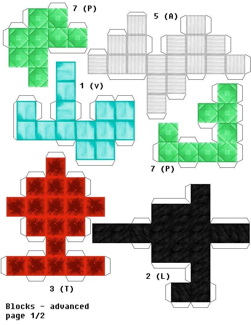 Papercraft Minecraft Skins Papercraft soma Cube Puzzle Minecraft Edition ore Block Version