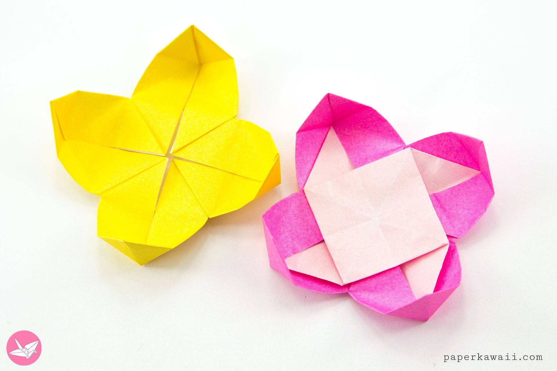 Papercraft origami Flowers origami Pinwheel Flowers Tutorial