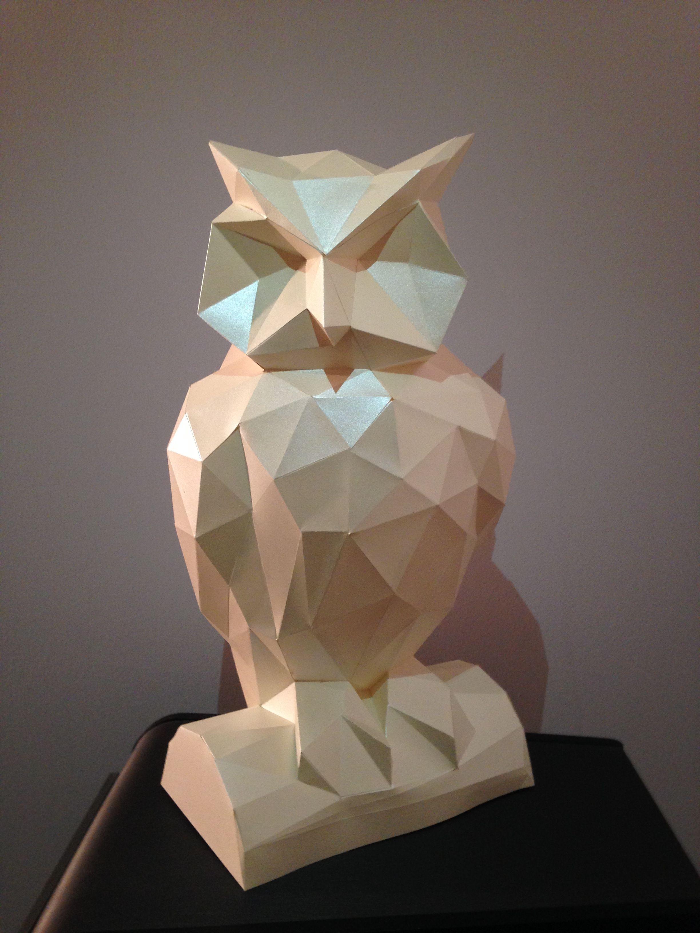 Papercraft Owl Lespapiersenchantes Owl origami Papercraft