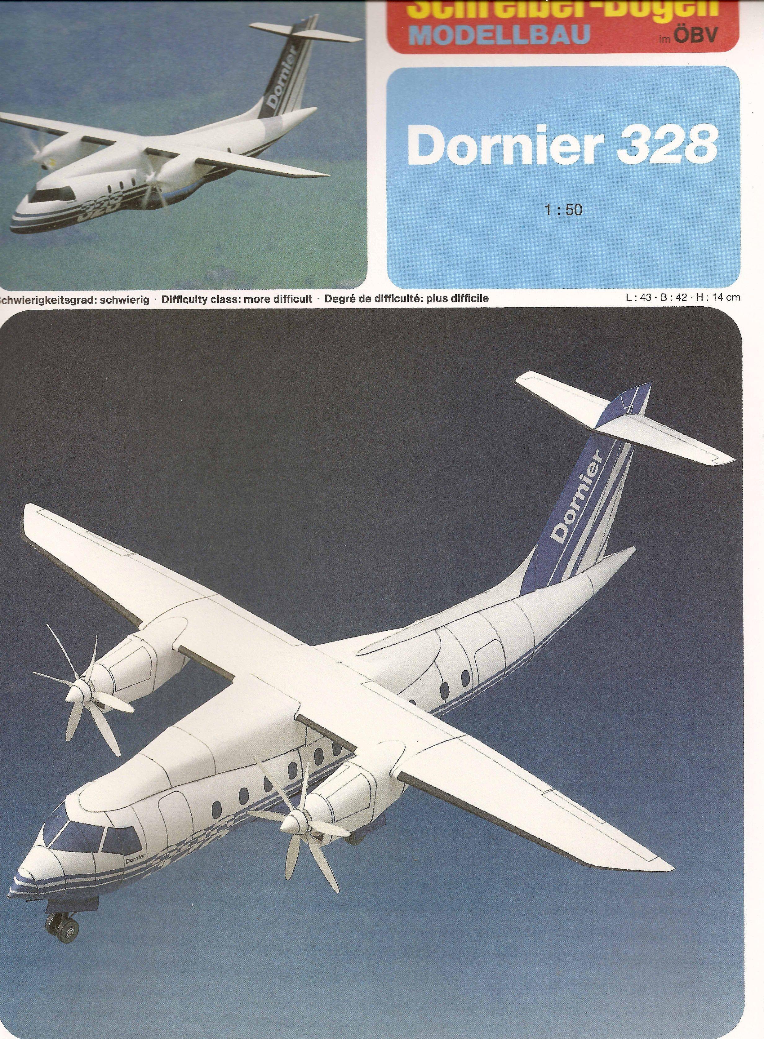 Papercraft Plane Do 328 Craft Karton Ideas Pinterest