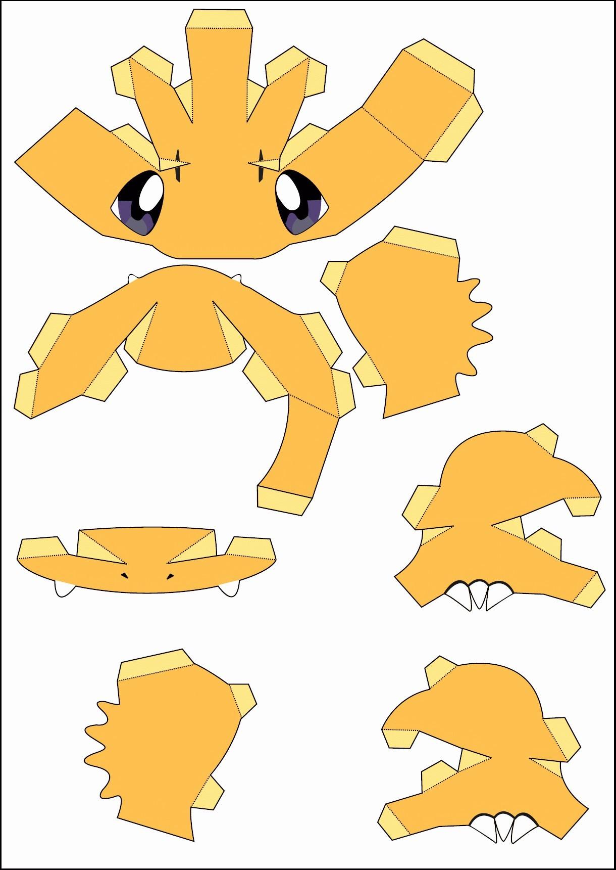 Papercraft Pokemon Pikachu 44 Awesome Paper Pokemon Templates Document Template Ideas