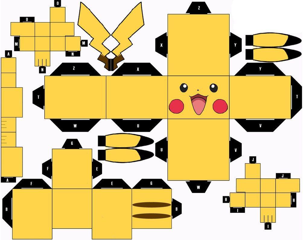 Papercraft Pokemon Pikachu Cubeecraft Google Pokemon Crafts for Kids Papercraft Pokeball