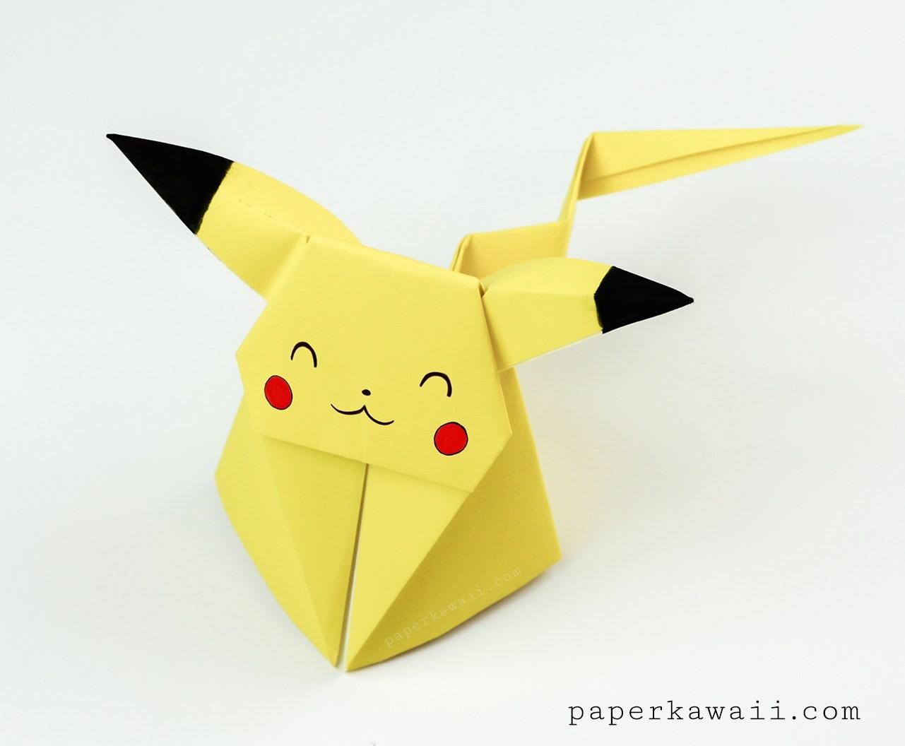 Papercraft Pokemon Pikachu Pikachu Page 1 Paper Kawaii